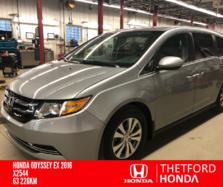Honda Odyssey EX 8 PASSAGERS BAS KILO TRÈS PROPRE !!  2016