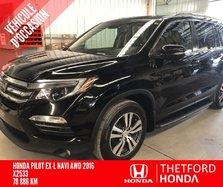 Honda Pilot EX-L NAVI GARANTIE PROLONGÉE COMPLÈTE HITCH 5000  2016