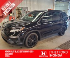 Honda Pilot Black Edition AWD Towing Package 5000 lbs 7 Places  2019