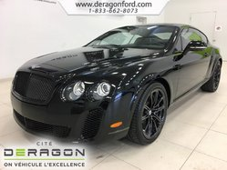Bentley Continental Supersports 6.0L W12 TWIN TURBO 621HP NOIR SUR NOIR  2010