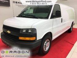 Chevrolet Express Cargo Van 2500 + ALLONGÉE + V6 4.3L + CUIR + A/C  2018