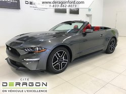 Ford Mustang CONVERTIBLE PREMIUM CRUISE ADAPT. CAM CUIR ROUGE  2018
