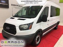 Ford Transit Wagon 350 XL + 15 PASSAGERS + CAMÉRA + AUCUN ACCIDENT  2016