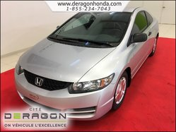 2010 Honda Civic Coupe DX-G MANUELLE + CRUISE CONTROL + VITRES TEINTEES