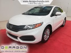 2015 Honda Civic Coupe EX + SEULEMENT 60 679 KM + GARANTIE PROLONGEE