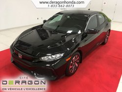 Honda Civic Hatchback LX + AUCUN ACCIDENT + GARANTIE PROLONGEE  2017
