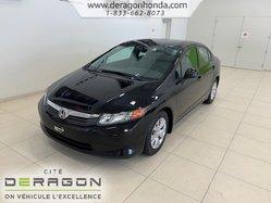 2012 Honda Civic Sdn LX+ LECTEUR CD+ AIR CLIMATISE+ BLUETOOTH