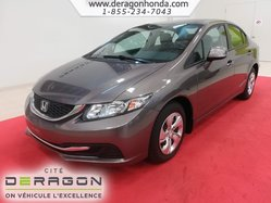 Honda Civic Sdn LX + JAMAIS ACCCIDENTE + BLUETOOTH  2013