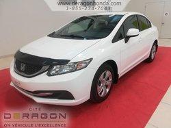 2013 Honda Civic Sdn LX + BAS KILOMETRAGE + AUCUN ACCIDENT