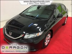 2013 Honda Civic Sedan LX MANUELLE 1.8L + BLUETOOTH + AIR CLIM