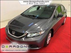 2014 Honda Civic Sedan DX MANUELLE 1.8L + BAS KILO + GARANTIE PROLONGEE