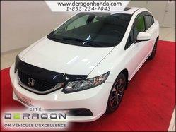 2014 Honda Civic Sedan EX 1.8L + TOIT OUVRANT + AIR CLIM + CAMERA RECUL
