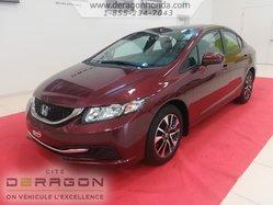 Honda Civic Sedan EX + BAS KILOMETRAGE + AUCUN ACCIDENT RAPPORTE  2014