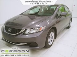 Honda Civic Sedan LX+BLUETOOTH+AIR CLIMATISE+SIEGES CHAUFFANTS  2014