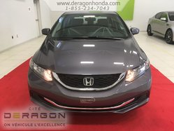 2015 Honda Civic Sedan LX + BAS KILOMETRAGE + AUCUN ACCIDENT