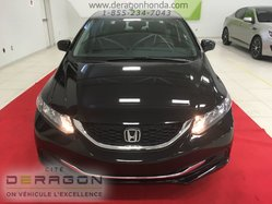 Honda Civic Sedan LX + BAS KILOMETRAGE + UN PROPIETAIRE  2015