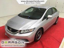 2015 Honda Civic Sedan LX + SEULEMENT 55,000 KILOMETRES + AUCUN ACCIDENT