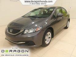 Honda Civic Sedan LX+SIEGES CHAUFFANT+BAS KILOS+BLUETOOTH+CAMERA  2015