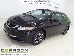 Honda Civic Sedan EX+BAS KILO+TOIT OUVRANT+DEMARREUR+AIR CLIMATISE  2015