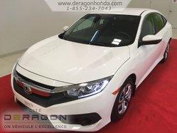 Honda Civic Sedan LX + HONDA SENSING + AUCUN DOMMAGE  2016