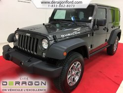 2018 Jeep WRANGLER JK UNLIMITED RUBICON 4X4 AUTOMATIQUE NAV DÉMARREUR TOIT RIGIDE