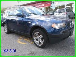 BMW X3 3.0I AVEC 4 PNEU D'HIVER  2004