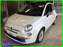 Fiat 500 CONVERTIBLE LOUNGE CONVERTIBLE CUIR MAGS *** SUPERBE CONDITION ***  2013
