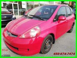 Honda FIT LX **ATTELAGE REMORQUE, PNEUS CLOUTÉS**  2007