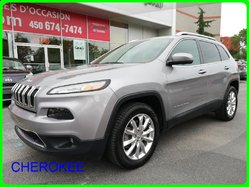 Jeep Cherokee LIMITED, 4WD, PANORAMIQUE, SUPERBE CONDITION  2016