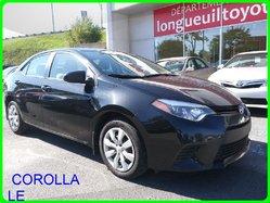 Toyota Corolla LE A/C AUTOMATIQUE BLUETOOTH VITRES ÉLECT CAM RECUL  2014