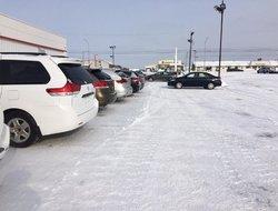 No need snowshoes at Amos Toyota.