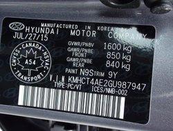Hyundai Accent GL AUTOMATIQUE  2016