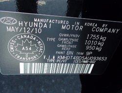2010 Hyundai Elantra L MANUELLE GARANTIE PROLONGÉE TRES PROPRE