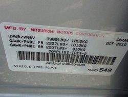 Mitsubishi Lancer SE CUIR TOIT OUVRANT MAGS ÉQUIPEMENT COMPLET  2011