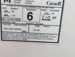 Bayliner BR175 BowRider 17.5' moteur 3.0L