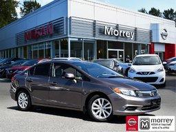 2012 Honda Civic Sedan EX * Moonroof, Bluetooth, Alloy Wheels, USB! Local BC Car, No Collisions!
