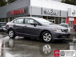 2015 Honda Civic Sedan LX 5-Speed Manual * Bluetooth, Backup Camera, A/C! Local BC Car, One Owner, No Collisions!
