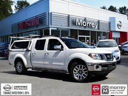 2013 Nissan Frontier Crew Cab SL 4x4 Canopy * Leather, Navi, Backup Camera, USB! Local BC Truck, One Owner, Low KM!