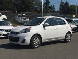 2016 Nissan Micra SV 5-speed Manual * Keyless Entry, Bluetooth, A/C! Local BC Car, No Collisions, Low KM!