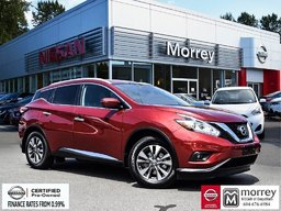2015 Nissan Murano SL AWD * Heated Leather Seats, Navi, Moonroof, USB Local BC Vehicle, One Owner, Low KM!
