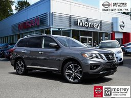 2018 Nissan Pathfinder Platinum 4WD * Leather, Navi, 360° Camera, Hitch! Local BC Vehicle, One Owner, No Collisions!