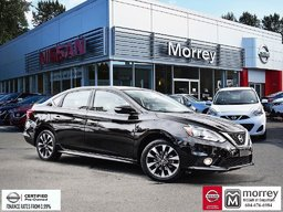2016 Nissan Sentra SR * Moonroof, Alloy Wheels, Spoiler, Smart Key! Local BC Car, One Owner, No Collisions, Low KM!