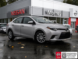2015 Toyota Corolla LE * Bluetooth, Backup Camera, Keyless Entry, USB! Local BC Car, One Owner, No Collisions!
