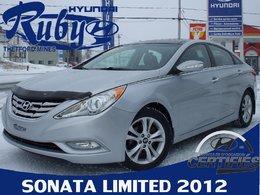 Hyundai Sonata Limited+toit panoramique +Gps GARANTIE JUSQU'EN 2020 OU 160 000 KM  WOW 2012