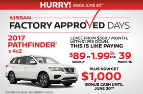 Lease the 2017 Nissan Pathfinder Today