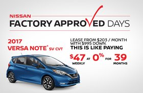 Drive Home the All-New 2017 Versa Note Today!