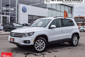2017 Volkswagen Tiguan Wolfsburg Edition 2.0T 6sp at w/Tip 4M LOW KM . Al