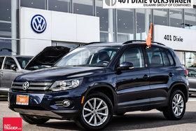2017 Volkswagen Tiguan Wolfsburg Edition 2.0T 6sp at w/Tip 4M LOW KMS !!