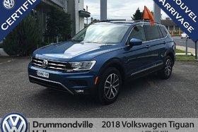 2018 Volkswagen Tiguan Comfortline/Cuir/Toit/4 Motion
