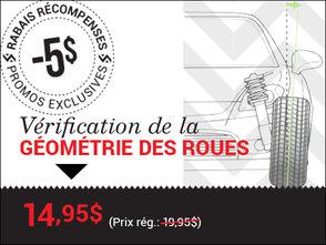 Vérification de la géométrie des roues chez Groupe Vincent à Shawinigan et Trois-Rivières